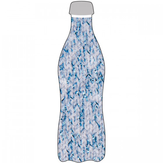 Bottle Sock Glitzer blau 750/1200ml